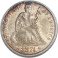 1874-CC 10C Arrows -- Cleaning -- ANACS. XF45 Details