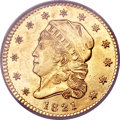 Early Quarter Eagles, 1821 $2 1/2 MS62 NGC. BD-1, R.5....