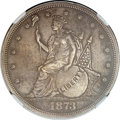 Patterns, 1873 T$1 Trade Dollar, Judd-1310, Pollock-1453, R.4 -- Stained -- NGC Details. Proof....
