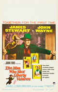 """Movie Posters:Western, The Man Who Shot Liberty Valance (Paramount, 1962). Window Card (14"""" X 22"""").. ..."""