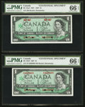 """Canadian Currency: , BC-45aS and BC-45bS $1 1967 """"Centennial Specimens"""". ... (Total: 2 notes)"""
