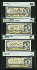 Canadian Currency: , BC-33b $20 1954 Devil's Face Seven Consecutive Examples. ... (Total: 7 notes)