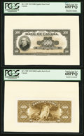 Canadian Currency: , BC-17FP/BP $500 1935 Face and Back Proofs. ... (Total: 2 notes)