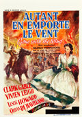 "Movie Posters:Academy Award Winners, Gone with the Wind (MGM, 1939). Pre-War Belgian (23.25"" X 33"")....."
