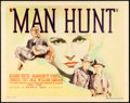 "Movie Posters:Crime, Man Hunt (Warner Brothers, 1936). Title Lobby Card (11"" X 14"").. ..."