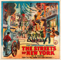 "Movie Posters:Drama, The Streets of New York (Pilot, 1920s). Six Sheet (81"" X 82.5"")....."