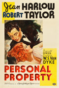 "Movie Posters:Romance, Personal Property (MGM, 1937). One Sheet (27.25"" X 41"") Style C.. ..."