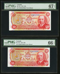 Canadian Currency: , BC-51b $50 1975 Two Examples. ... (Total: 2 notes)