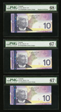 Canadian Currency: , BC-68a $10 2004-07 Eight Consecutive Notes. ... (Total: 8 notes)
