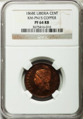 Liberia, Liberia: Republic copper Proof Pattern Cent 1868-E,...