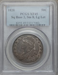 Bust Half Dollars: , 1828 50C Square Base 2, Small 8, Large Letters XF45 PCGS. PCGSPopulation (91/346). NGC Census: (25/181). ...