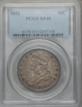 Bust Half Dollars: , 1831 50C XF45 PCGS. PCGS Population (225/1260). NGC Census:(146/1247). Mintage: 5,873,660. Numismedia Wsl. Price for probl...