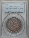 Bust Half Dollars: , 1834 50C Small Date, Small Letters XF45 PCGS. PCGS Population(175/618). ...