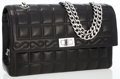 Luxury Accessories:Bags, Chanel Black Lambskin Leather Quilted Medium Flap Bag with Mademoiselle Closure. ...