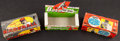 Baseball Cards:Unopened Packs/Display Boxes, 1958 - 1960 Topps Baseball Empty Wax Box Group (3). ...