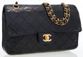 Luxury Accessories:Bags, Chanel Black Quilted Lambskin Leather Medium Double Flap Bag withGold Hardware . ...
