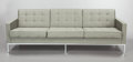 Furniture : American, FLORENCE KNOLL (American, b. 1917). Sofa, 1960. Upholstery,steel, wood frame, polished chrome finish. 30-1/2 x 90 x 32 ...