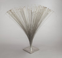 HARRY BERTOIA (American, 1915-1978) Spray, circa 1970 Stainless steel base, collar, and rods with br