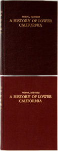 Books:Americana & American History, Pablo Martinez. A History of Lower California. Baja: 1960.Two copies. Maroon cloth over boards. Boards slightly bo... (Total:2 Items)