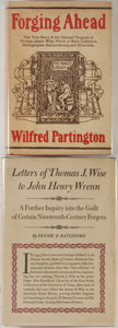 """Books:Books about Books, [Books about Books]. Two Related Titles about Thomas James Wise, Book Collecting's """"Prime Forger."""" Publisher's bindings and ... (Total: 2 Items)"""