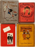 Books:Children's Books, [Children's Books]. Group of Four First Edition, First PrintingChildren's Books from the Late-19th and Early-20th Centuries. ...(Total: 4 Items)