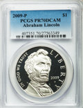 Modern Issues, 2009-P $1 Lincoln Bicentennial PR70 Deep Cameo PCGS. PCGSPopulation (2457). NGC Census: (6817). Numismedia Wsl. Price for...