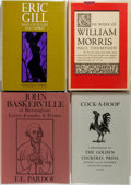 Books:Books about Books, [Books about Books]. Three Biographies of Printers and One Bibliography. Biographies are about Eric Gill, William Morris and... (Total: 4 Items)
