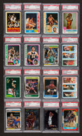 Basketball Cards:Lots, 1970's-1990's Basketball Stars and HoFers PSA Collection (16). ...