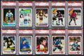 Hockey Cards:Lots, 1974 - 1990 Topps & Score Hockey Stars & HoFers PSACollection (10). ...
