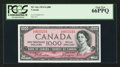 Canadian Currency: , BC-44a $1000 1954. ...