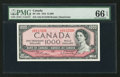 Canadian Currency: , BC-44b $1000 1954. ...