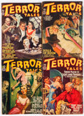 Pulps:Horror, Terror Tales Group (Popular, 1940-41) Condition: Average VG-....(Total: 6 Comic Books)