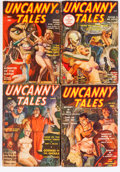 Pulps:Science Fiction, Uncanny Tales Group (Red Circle, 1939-40) Condition: AverageVG-.... (Total: 4 Comic Books)