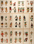 Books:Prints & Leaves, [Native American] Group of 14 Vintage Heliotypes Depicting NativeAmericans. Ca. 1900. Measures 7.75 x 11.25 inches. Removed...