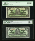 Canadian Currency: , BC-21c $1 1937 Wide Signature Panel Two Examples. ... (Total: 2 notes)