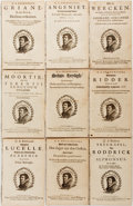 Books:Literature Pre-1900, Garbrand Adrianszoon Bredero. A Collection of Nine SeventeenthCentury Reprints of the Works of the Dutch Dramatist, Comic and...
