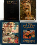 Books:Children's Books, [Children's]. Group of Four Children's Books. Includes anillustrated copy of Typee be Herman Melville, as well as anun... (Total: 4 Items)