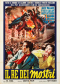 "Movie Posters:Science Fiction, Godzilla Raids Again (Gigantis the Fire Monster) (Cestia, 1957).Italian 2 - Foglio (39"" X 55"").. ..."