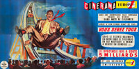 "This is Cinerama (Cinerama Europe 1, 1961). French Six Panel (92"" X 186"")"