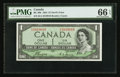 Canadian Currency: , BC-29b $1 1954 Devil's Face B/A Prefix. ...