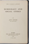 Books:Americana & American History, Jane Addams. Democracy and Social Ethics. The MacmillanCompany, 1902. First edition. Library binding and new en...