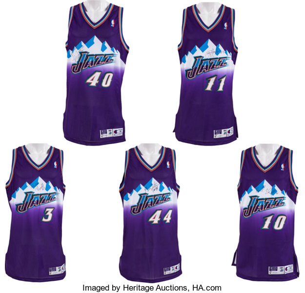 uk availability 67e62 18ad4 1997-98 Utah Jazz Stars Signed Game Issued Jerseys Lot of 5 ...