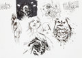 Original Comic Art:Miscellaneous, Ashley Wood Zombies vs. Robots vs. Amazons Character StudyInk Sketch Page Original Art (undated)....