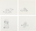 Animation Art:Production Drawing, Garfield and Yogi Bear Production Drawing AnimationArt Group (1970s-80s).... (Total: 7 Items)