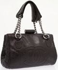 Luxury Accessories:Bags, Chanel Black Antiqued Lambskin Leather Shoulder Bag with CC Logo& Kisslock Closure. ...