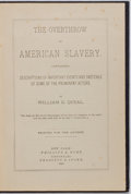 Books:Americana & American History, William G. Queal. The Overthrow of American Slavery. NewYork: Phillips and Hunt, 1885. First edition. Octavo. Publi...