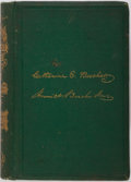 Books:Americana & American History, Catharine E. Beecher and Harriet Beecher Stowe. The AmericanWoman's Home. New York: J.B. Ford, 1869. First edition....