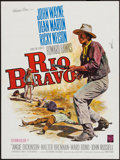 """Movie Posters:Western, Rio Bravo (Warner Brothers, R-1964). French Affiche (23.5"""" X 31.5""""). Western.. ..."""