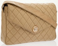 Luxury Accessories:Bags, Chanel Beige Quilted Lambskin Leather Shoulder Bag. ...