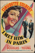 """Movie Posters:Comedy, I Met Him in Paris (Paramount, 1937). One Sheet (27"""" X 41"""").Comedy.. ..."""